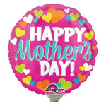 10cm Happy Mother's Day Hearts (Inflated) Foil Balloon