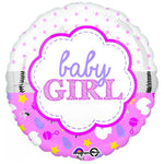 Baby Girl Balloon - Scallop Design 45cm