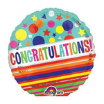 10cm Congratulations - Sparkle (Inflated) Foil Balloon
