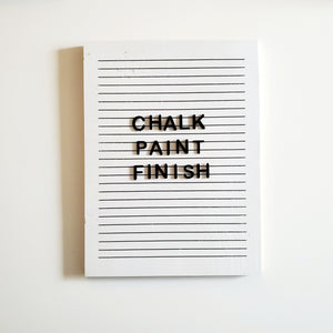 Chalk Paint Finish- Rectangle Letter Board (White)