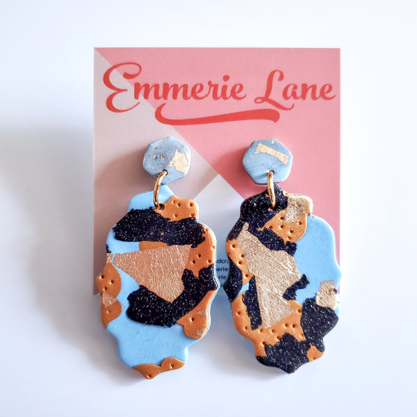 Tiger King Statement - Polymer Clay Earrings