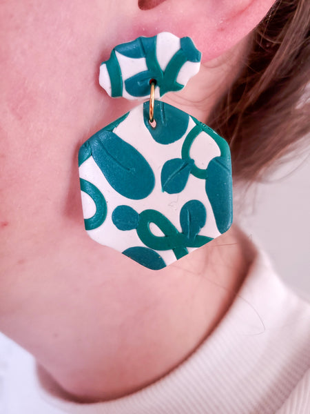 Vineyard Statement - Polymer Clay Earrings