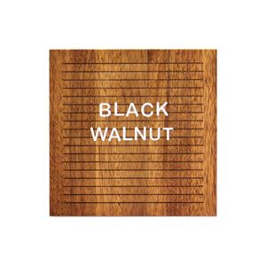 Black Walnut -Square Walnut Letter Board