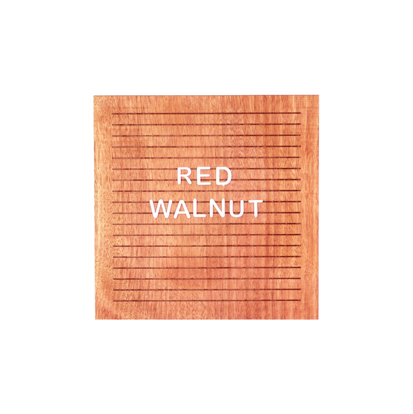 Red Walnut - Square Walnut Letter Board