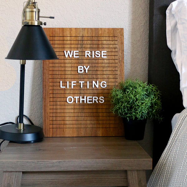 Black Walnut - Rectangle Walnut Letter Board