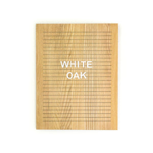 White Oak -Rectangle Oak Letter Board