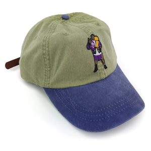 """Frobe"" Hat (khaki/purple)"