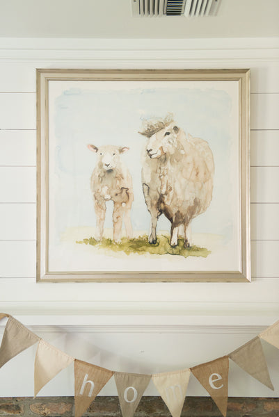 """Royal"" Lamb Duo Framed & Matted Art Print"