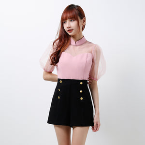 Lantern Inspired Puffy Sleeves Top