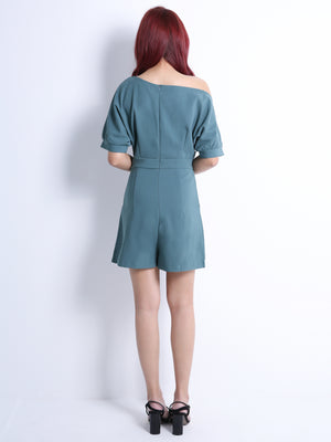 Wide Neck Playsuit 10812