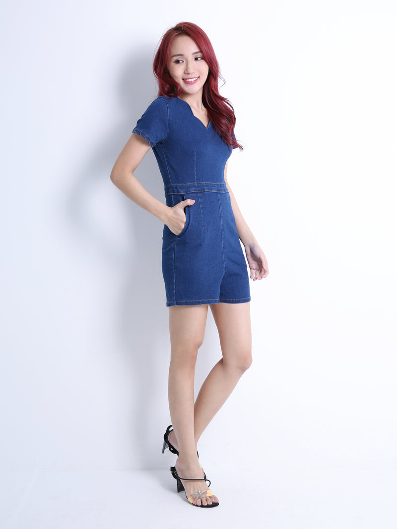 Denim Playsuit 10953