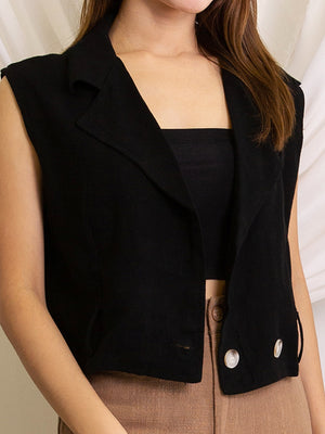 Sleeveless Blazer 11590