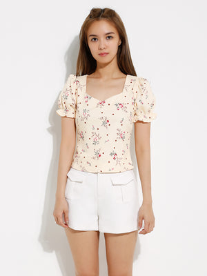 Polka Dot Flower Top 12932