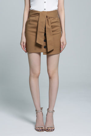 Button Skirt 1823 - ample-couture