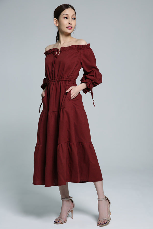 Off Shoulder Dress 1835 - ample-couture