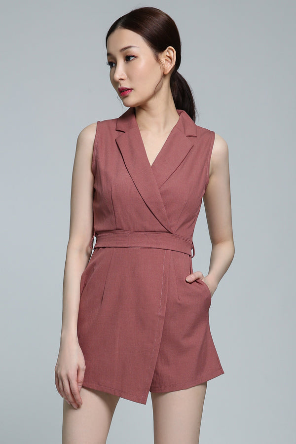 V-Neck Playsuit 1826