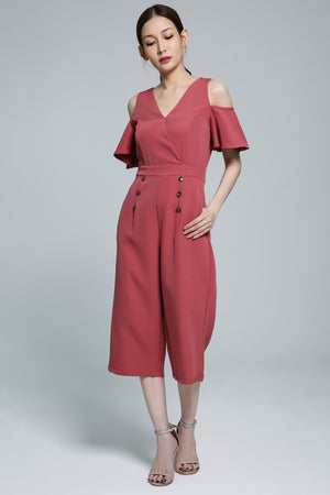 Open Shoulder Jumpsuit 1851