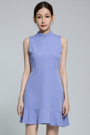 Plain Dress 1866 Blue / S Dresses
