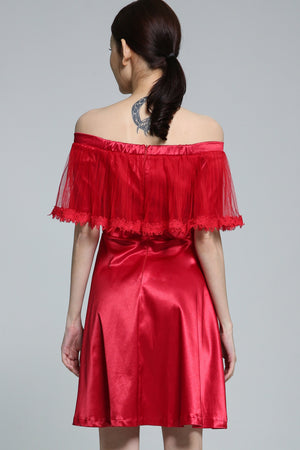 Off Shoulder Dress 1870 - ample-couture