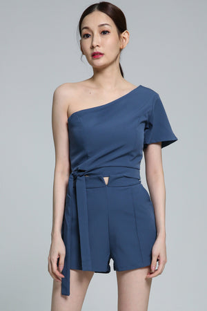 Side Shoulder with Short Pant Set 1875 - ample-couture