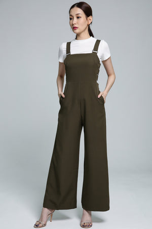 Long Jumpsuit with Short Sleeve Top Set 1881