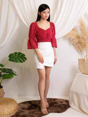 Square Neck Lace Top 11541