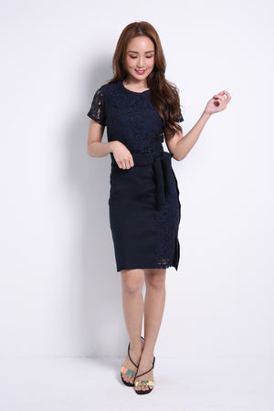 Lace Top With Skirt Set 8969