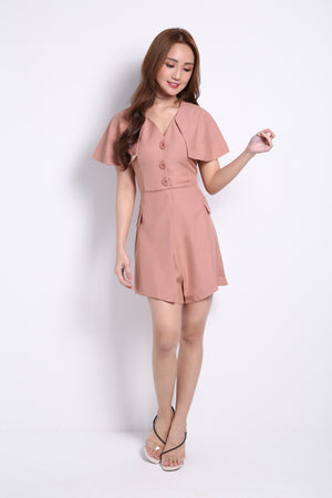Cape Sleeve Playsuit 8986