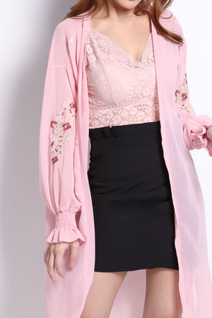 Flower Patch Sleeve Cardigan 10274A