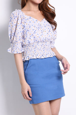 Square Neck Flower Top 10257