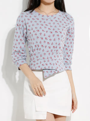 Basic Floral Top 12972