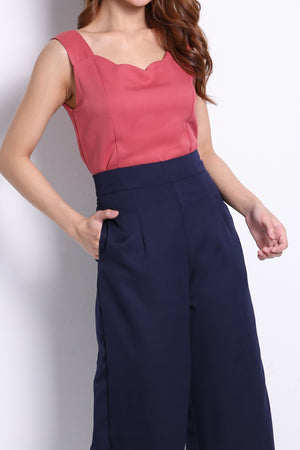 Strap Top With Long Pants Set 10355