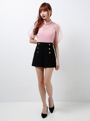 Puffy Mesh Sleeves Top (Premium Quality Pre-Order)