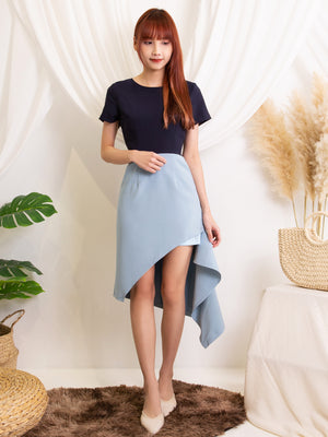 Dual Tone Asymmetric Dress