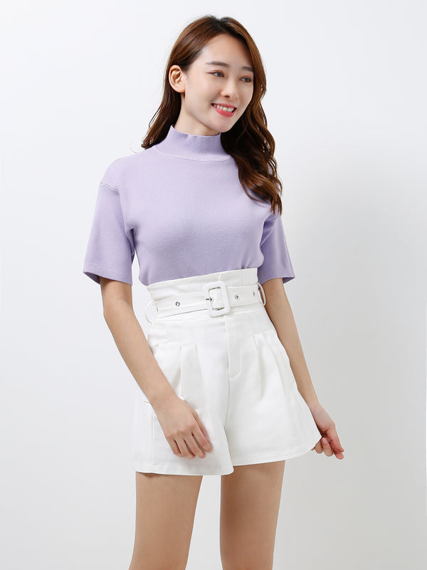 Turtleneck Knit Top 12413
