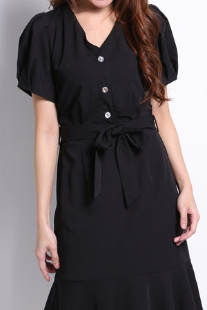 Front Button Dress 9656