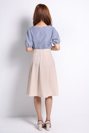 Checker Top With Skirt Set 9734A