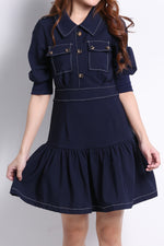 Front Button Dress 9744