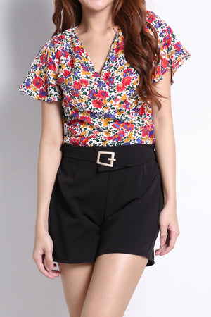 Flower Printed Top 9751