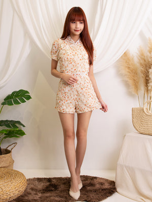 Floral Top and Short Pants Set