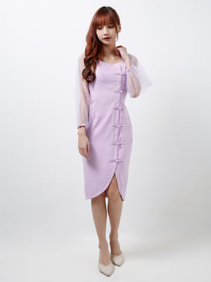 Off Shoulder Cheongsam Dress 12276