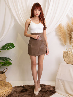 Basic Leather Skirt