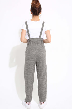 Checker Jumpsuit with Top Set 1248 - ample-couture