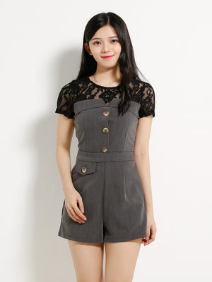 Front Button Top With Short Pants Sets 12998