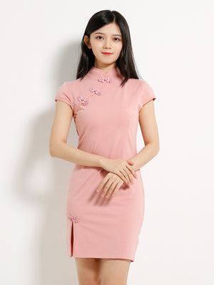 Plain Cheongsam Dress 13040