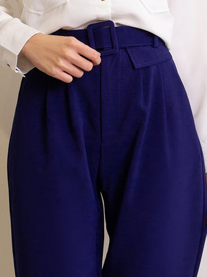 Long Pants With Tie Up Belt