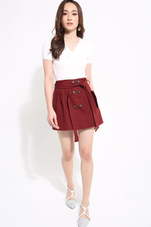 Button Skirt 1251 - Ample Couture