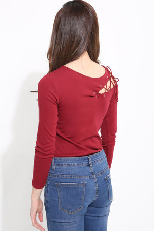 Open Side Shoulder Top 1253