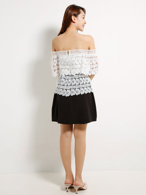 Off Shoulder Lace Dress 13033