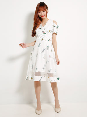 Cut Off Flower Dress 13043